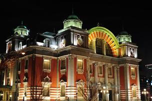 大阪市中央公会堂ライトアップ-5の写真素材 [FYI00316213]