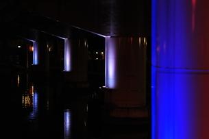堂島川高架下のライトアップ-2の写真素材 [FYI00316220]