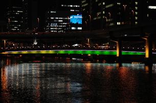ガーデンブリッジのライトアップ-1の写真素材 [FYI00316224]