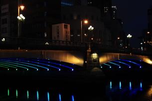 難波橋のライトアップ-3の写真素材 [FYI00316233]