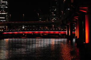 ガーデンブリッジのライトアップ-2の写真素材 [FYI00316235]