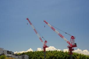 マンション建設現場-2の写真素材 [FYI00316445]