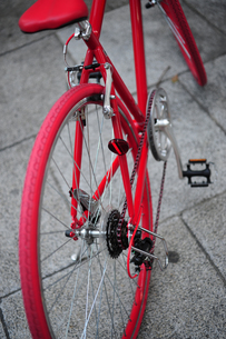 赤い自転車-1の写真素材 [FYI00316666]