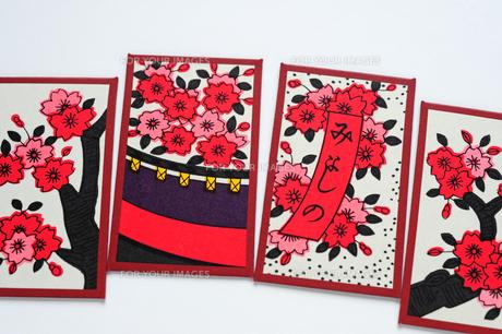 桜の花札の写真素材 [FYI00316742]