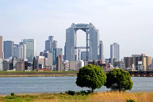 対岸より梅田方面を眺める-3の写真素材 [FYI00316797]