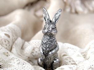ウサギの置物の写真素材 [FYI00317083]