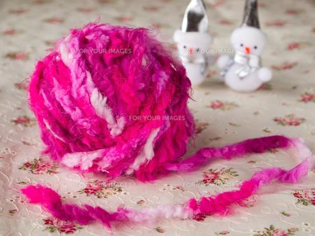 毛糸と雪だるまの素材 [FYI00317138]