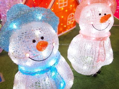 雪だるまのイルミネーションの写真素材 [FYI00317141]