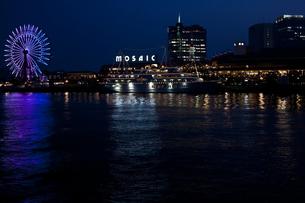 神戸のモザイクの夜景の写真素材 [FYI00317387]