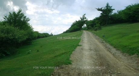 高原ののどかな道の写真素材 [FYI00317731]