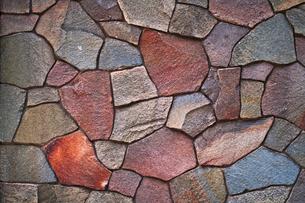 ランダムな大きさのカラフルな壁の写真素材 [FYI00318253]