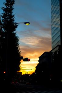 都会の夕焼けの写真素材 [FYI00318262]