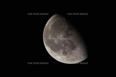 夜明け前の月の写真素材 [FYI00319010]