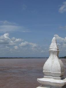雨季のメコン川の写真素材 [FYI00319401]