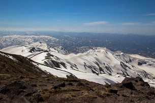 雪山の写真素材 [FYI00319454]