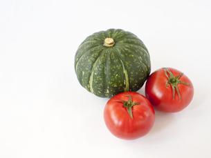 鈴かぼちゃとトマトの素材 [FYI00319682]