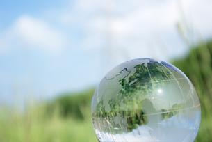 ガラス地球儀の写真素材 [FYI00320577]