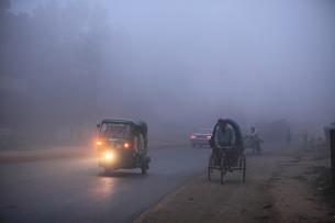 霧の朝の写真素材 [FYI00320718]