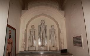 カジュラーホの建造物群 東群のシャーンティナータ寺院の祖師像の写真素材 [FYI00321237]