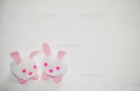 毛糸で作ったウサギの写真素材 [FYI00321364]