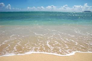 サンセット・ビーチの波打ち際の写真素材 [FYI00321419]