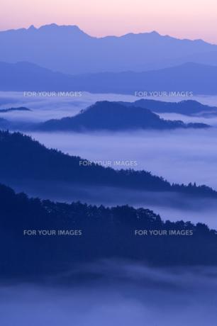 高野山の雲海の写真素材 [FYI00321451]