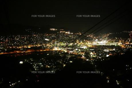 長崎県 佐世保市夜景の写真素材 [FYI00321473]