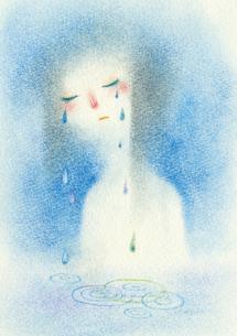 涙もろい女の子の写真素材 [FYI00321555]