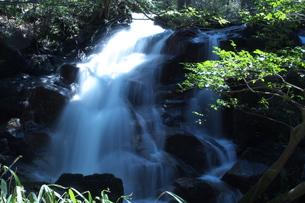 青い滝の写真素材 [FYI00321614]
