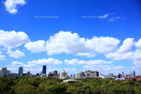 大阪城から望むビジネス街の素材 [FYI00322044]