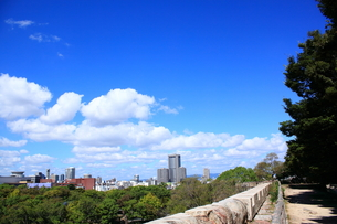 大阪城から望むビジネス街の素材 [FYI00322049]