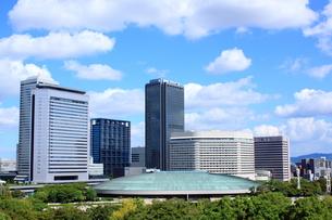大阪ビジネスパークと大阪城ホールの素材 [FYI00322054]