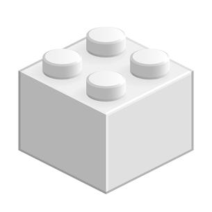 ブロック おもちゃ 4つはめ込み式立体 ホワイトの写真素材 [FYI00322292]
