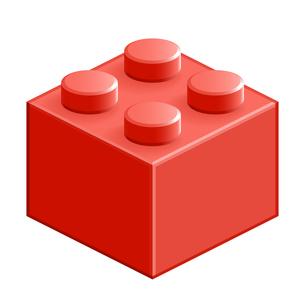 ブロック おもちゃ 4つはめ込み式立体 レッドの写真素材 [FYI00322293]