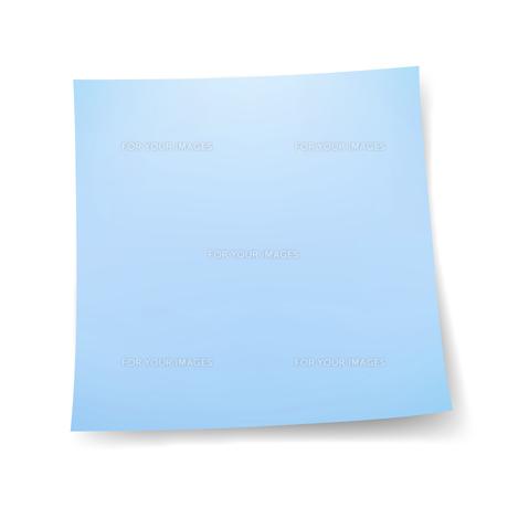 付箋紙 メモ用紙シール 青色の写真素材 [FYI00322294]