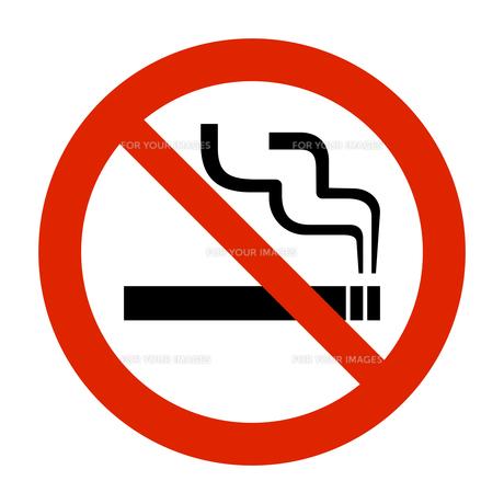 ピクトグラム 禁止マーク 禁煙の写真素材 [FYI00322295]