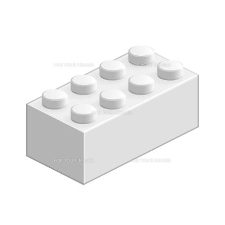ブロック おもちゃ 8つはめ込み式立体 ホワイトの素材 [FYI00322300]
