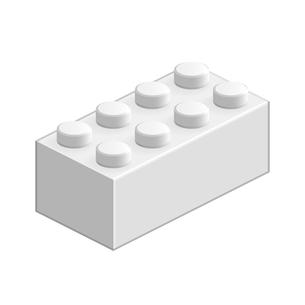 ブロック おもちゃ 8つはめ込み式立体 ホワイトの写真素材 [FYI00322300]