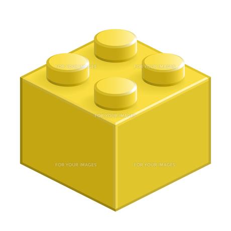 ブロック おもちゃ 4つはめ込み式立体 イエローの素材 [FYI00322302]