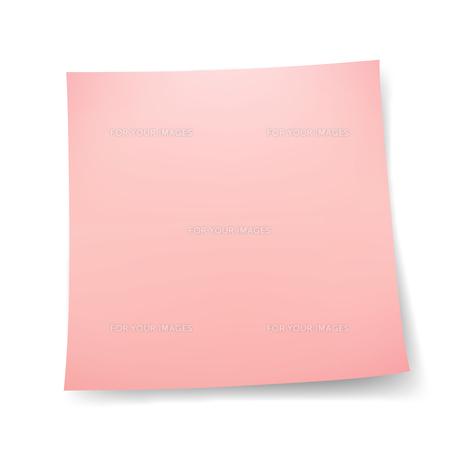 付箋紙 メモ用紙シール 赤色の写真素材 [FYI00322304]