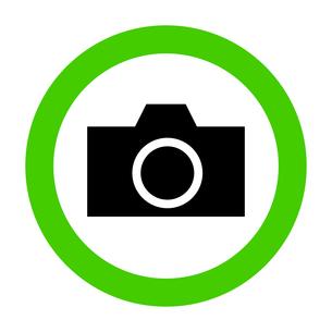 ピクトグラム 撮影 許可 グリーンの写真素材 [FYI00322307]