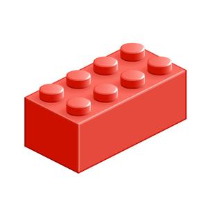 ブロック おもちゃ 8つはめ込み式立体 レッドの素材 [FYI00322308]