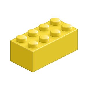 ブロック おもちゃ 8つはめ込み式立体 イエローの素材 [FYI00322309]