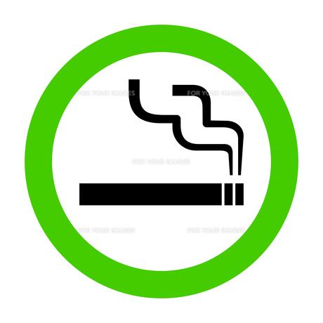 ピクトグラム 喫煙 許可 グリーンの写真素材 [FYI00322310]