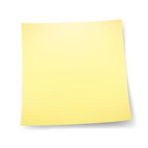 付箋紙 メモ用紙シール 黄色の写真素材 [FYI00322311]