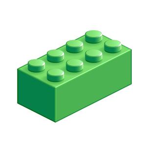 ブロック おもちゃ 8つはめ込み式立体 グリーンの素材 [FYI00322314]