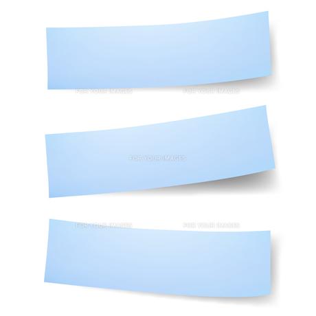 付箋紙 見出しタイプ ブルーの写真素材 [FYI00322316]