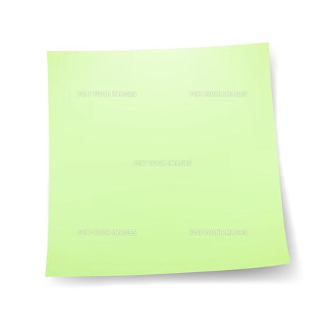付箋紙 メモ用紙シール グリーンの写真素材 [FYI00322323]