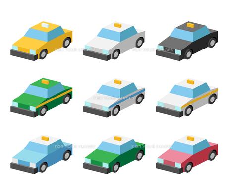 タクシー イラストアイコン カラーバリエーションの写真素材 [FYI00322332]