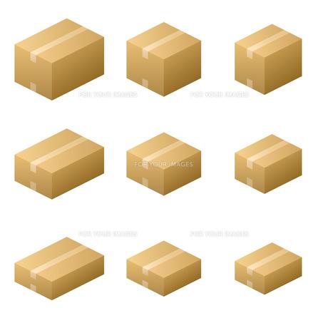 ダンボール箱 ガムテープタイプ サイズ9種類 茶色の写真素材 [FYI00322341]